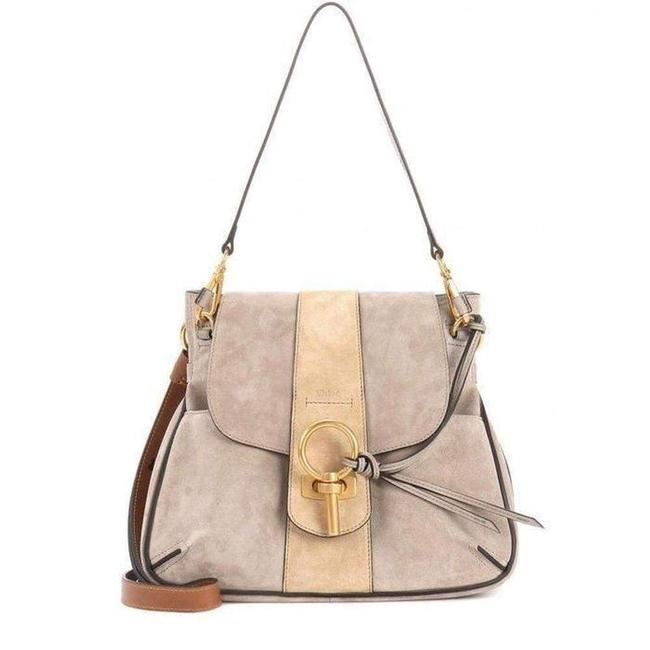 Item - Crossbody Lexa Medium Beige Velvet Leather 3s1261-hd3-b79 Fr Shoulder Bag