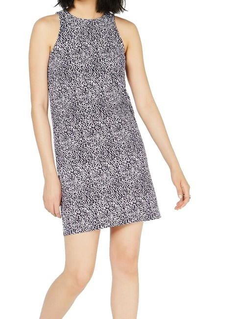 Item - Women's Purple Size Small S Halter Printed Sheath Cocktail Dress