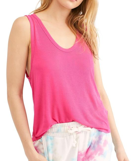 Free People Womens Top Hot Pink Size Small S Knit Take The Plunge Tank Sweater/Pullover Free People Womens Top Hot Pink Size Small S Knit Take The Plunge Tank Sweater/Pullover Image 1