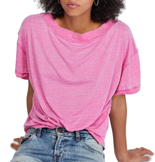 Free People XS Women's Top Magenta Pink Size Knit Burnout Open Back Sweater/Pullover Free People XS Women's Top Magenta Pink Size Knit Burnout Open Back Sweater/Pullover Image 1