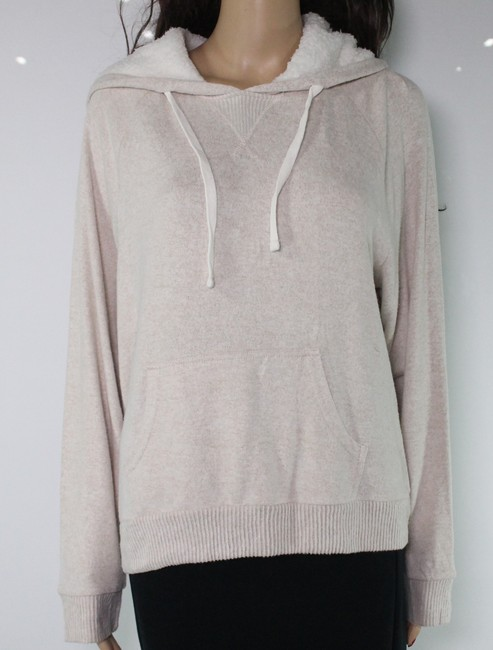 Item - L White Ivory Size Large Junior's Fleece Ribbed Sweatshirt/Hoodie