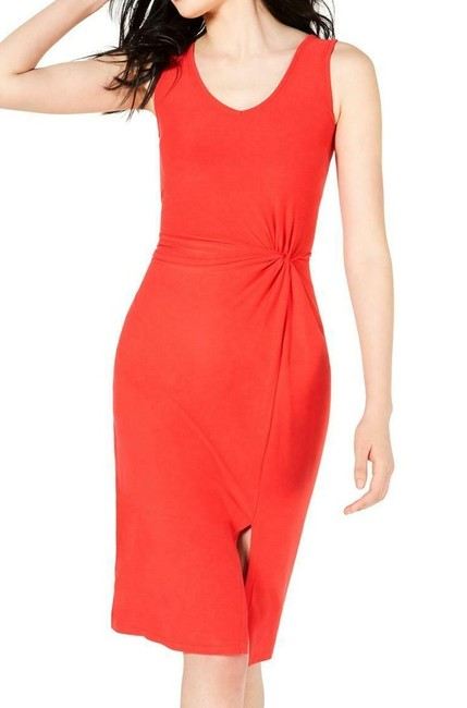 Item - Red Size Small S Junior Sheath Gathered Front Solid Formal Dress