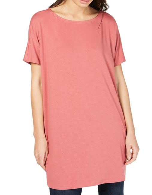 Item - Women's Pink Size Medium M Bateau Neck Blouse Tunic