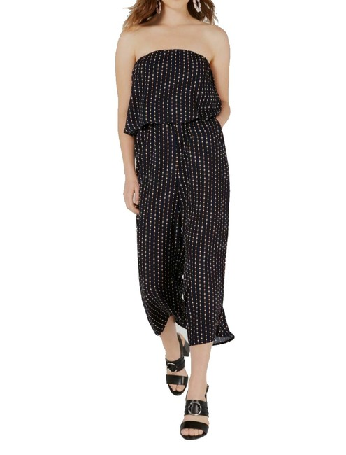 Item - XS Blue Size Junior Strapless Popover Cropped Pritned Romper/Jumpsuit