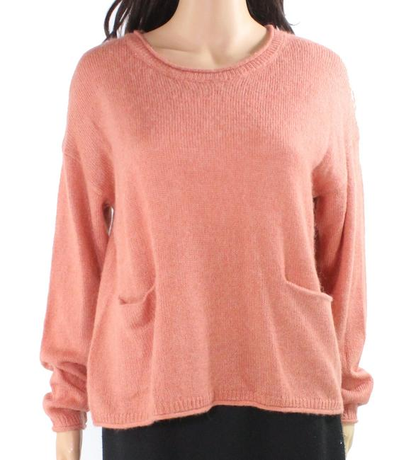 Item - Women's Pink Size Small S Boat Neck Pocket-front Sweater/Pullover