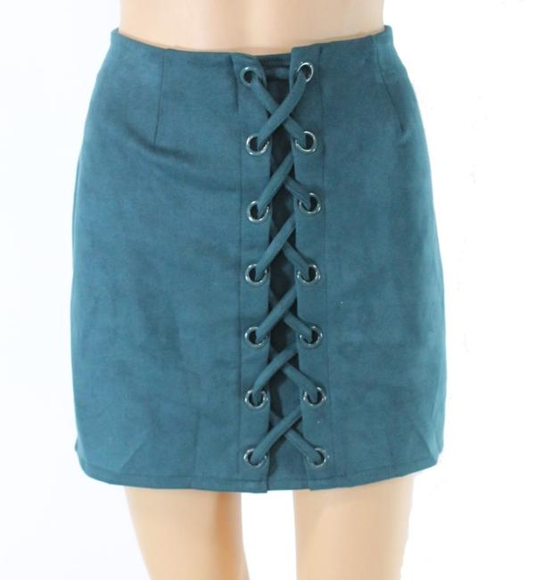 Item - L Women's Green Size Large Faux Suede Straight Pencil Skirt