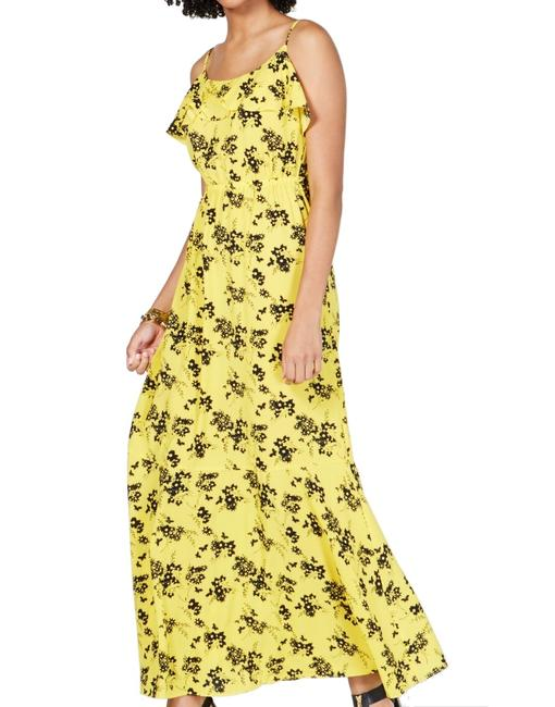 Item - Women's Yellow Size Small S Floral Popover Casual Maxi Dress