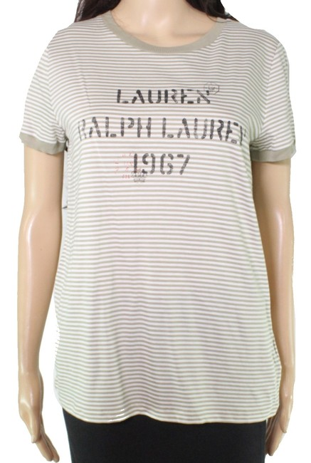 Item - XL By Women's Top Olive Green Size Knit Stripe Tee Shirt