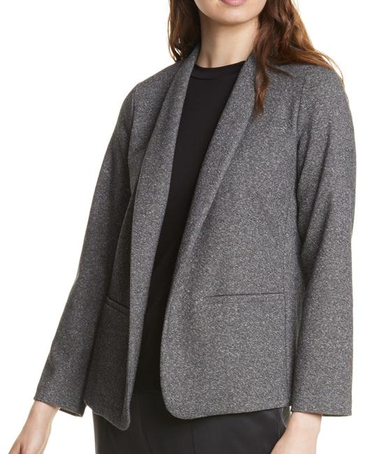 Item - L Women's Gray Size Large Open Front Shawl Collar Blazer