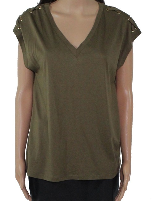 Item - L By Women's Top Olivr Green Size Large V Neck Tee Shirt