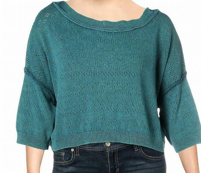 Item - XL Women's Agave Blue Size Ribbed Knit Sweater/Pullover