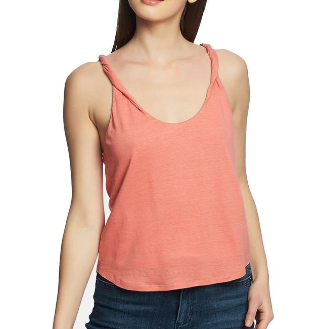 1.STATE Twist L Women's Coral Orange Size Large Knit Strap Tank Top/Cami 1.STATE Twist L Women's Coral Orange Size Large Knit Strap Tank Top/Cami Image 1