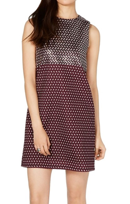 Michael Kors Women's Shift Purple Size Medium M Geometric Print Cocktail Dress Michael Kors Women's Shift Purple Size Medium M Geometric Print Cocktail Dress Image 1