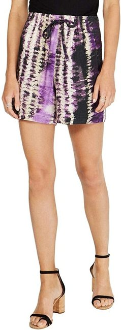 Item - Women's Purple Black Size Small S Casual Tie-dyed Shorts