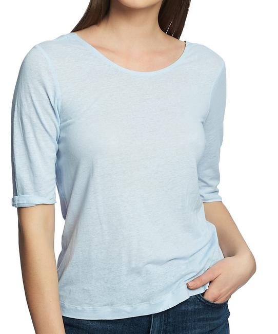 Item - Women's Top Powder Blue Size Small S Knit Knot Back Tee Shirt