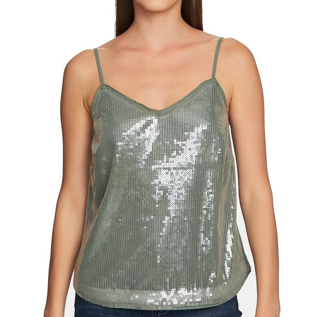 Item - XS Women's Green Size V Neck Sequin Embellished Tank Top/Cami