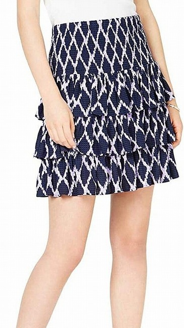 Item - Women's Blue Purple Size Small S Smocked Tiered Skirt