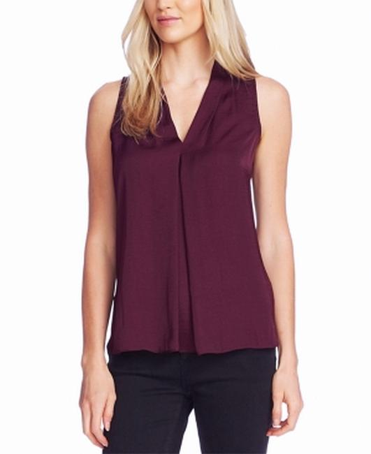 Item - XS Women's Purple Size V-neck Inverted-pleated Blouse