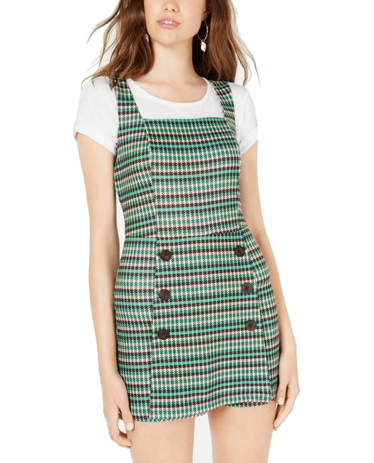 Item - XL Green Size Junior Houndstooth Double Breasted Romper/Jumpsuit