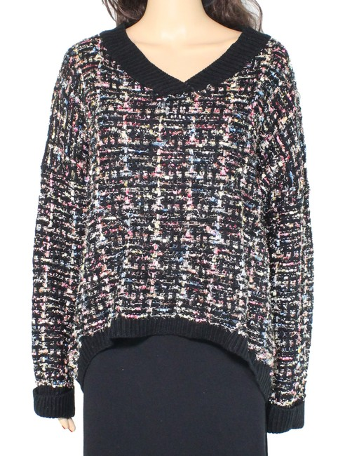 Item - L Women's Black Size Large Long Sleeve V-neck Knitted Sweater/Pullover
