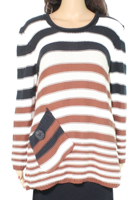 Item - L Women's Brown Size Large Knitted Striped Sweater/Pullover