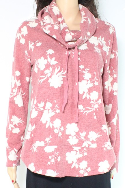 Item - L Womens Size Large Floral Long Sleeve Cowl Sweater/Pullover