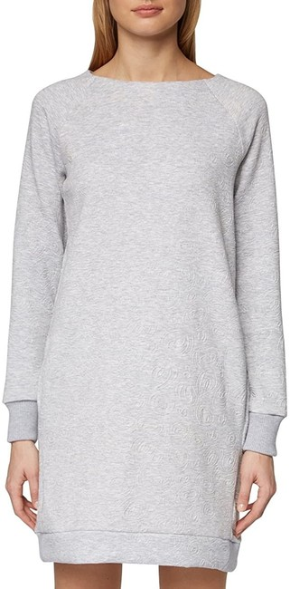 Item - L Women's Sweater Heather Gray Size Large Boat Neck Cocktail Dress