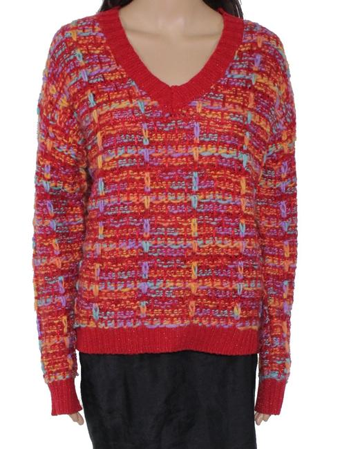 Item - Women's Red Size Small S V-neck Sweater/Pullover