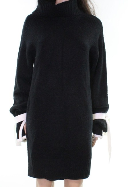 Item - Women's Sweater Black Size Small S Piped Tie Sleeve Mock Cocktail Dress