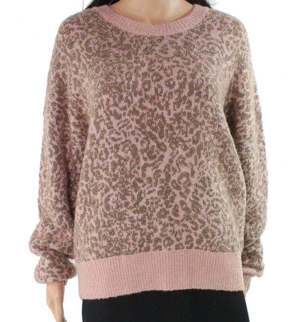 Item - L Women's Pink Size Large Crewneck Wool Leopard Sweater/Pullover