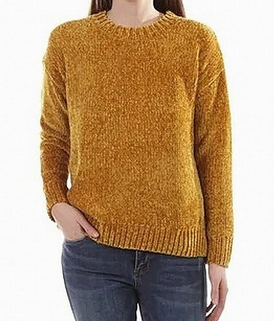 Item - L Women's Mustard Yellow Size Large Chenille Sweater/Pullover