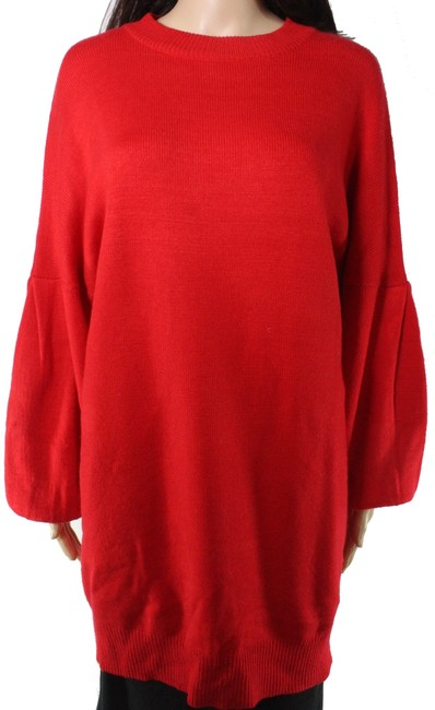 Item - Women's Sweater Red Size Small S Pullover Ribbed Crewneck Tunic