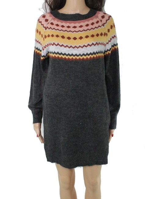 Item - L Women's Dress Gray Size Large Fair Isle Printed Shift Sweater/Pullover