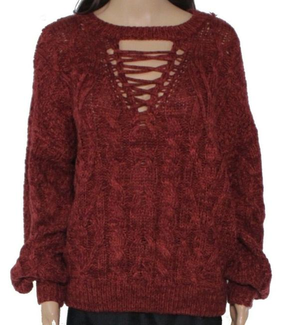 Item - XS Women's Rust Red Size Cable Knit Sweater/Pullover