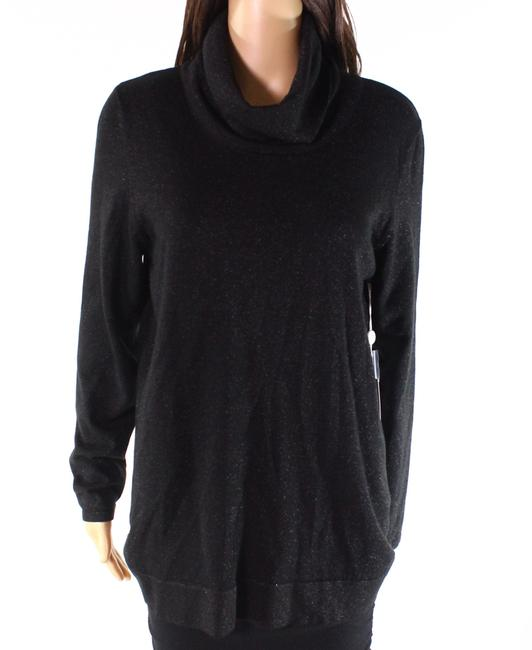 Item - XS Women's Deep Black Size Shimmer Cowl Sweater/Pullover