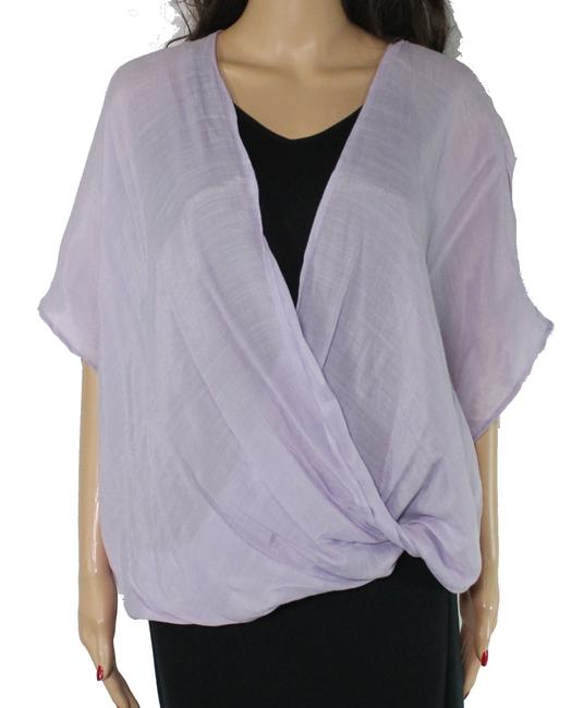 Item - Women's Purple Size Small S Surplice Draped Hi Low Blouse