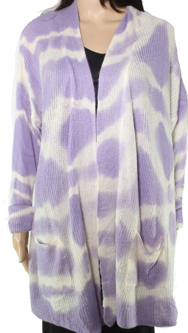 Say What? Women's Purple Size Medium M Tie Dye Open Front Cardigan Say What? Women's Purple Size Medium M Tie Dye Open Front Cardigan Image 1