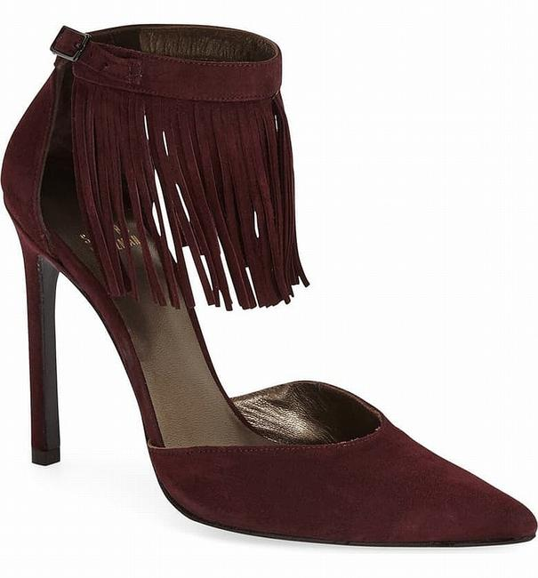 Item - Shoes Purple Size 7.5m Fringelica Stilettos Suede Jewelry