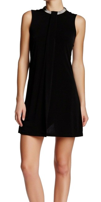 Item - New Black Women's Size 8 Chain-neck Overlay Shift Cocktail Dress