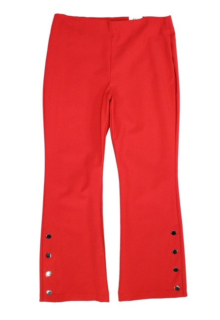 Item - Women's Cherry Red Size 2 High-rise Stretch Snap-buttons Pants
