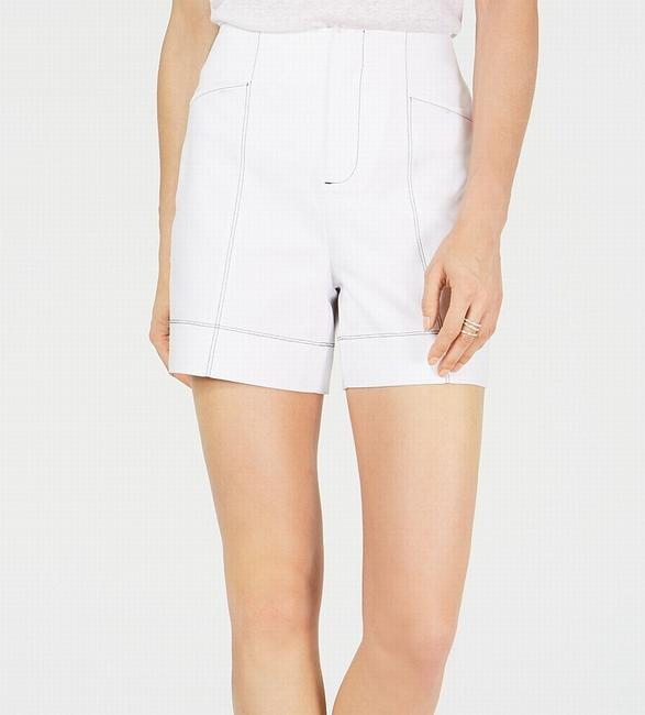 Item - Women's Casual White Size 10 Contrast Stitch High Rise Shorts