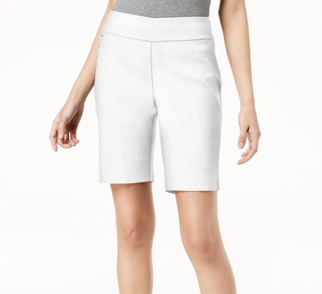 Item - Women's Bermuda Solid White Size 4 Studded Curvy Mid Rise Shorts