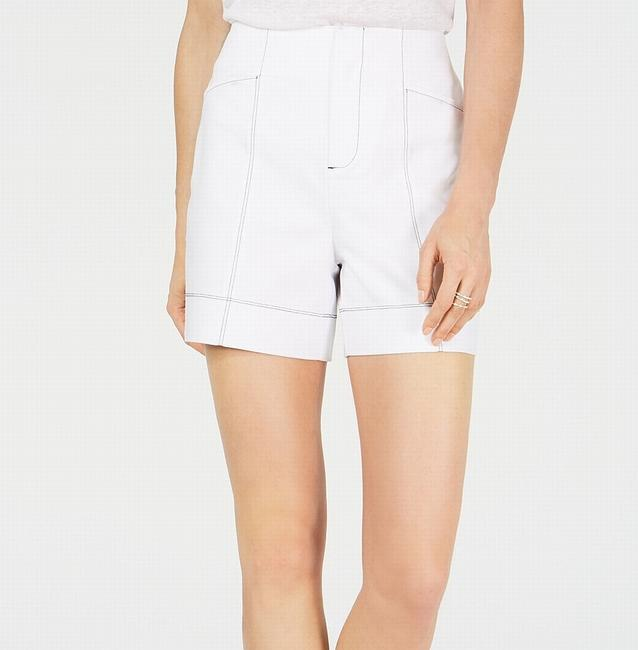 Item - Women's Casual White Size 6 Contrast Stitch High Rise Shorts