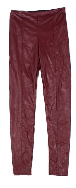 Item - Women's Purple Size 12 Faux-leather Ankle Stretch Pants