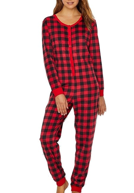 Item - XL Women's One Piece Red Size Plaid Button Front Button-down Top
