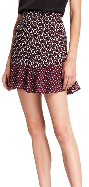Item - Women's Purple Size 12 Mod Floral Combo Printed Skirt