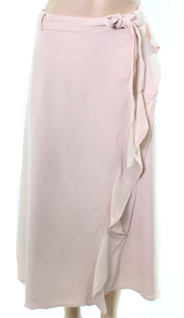 Item - Women's Pink Size 12 Ruffle Belted Faux Wrap A-line Skirt