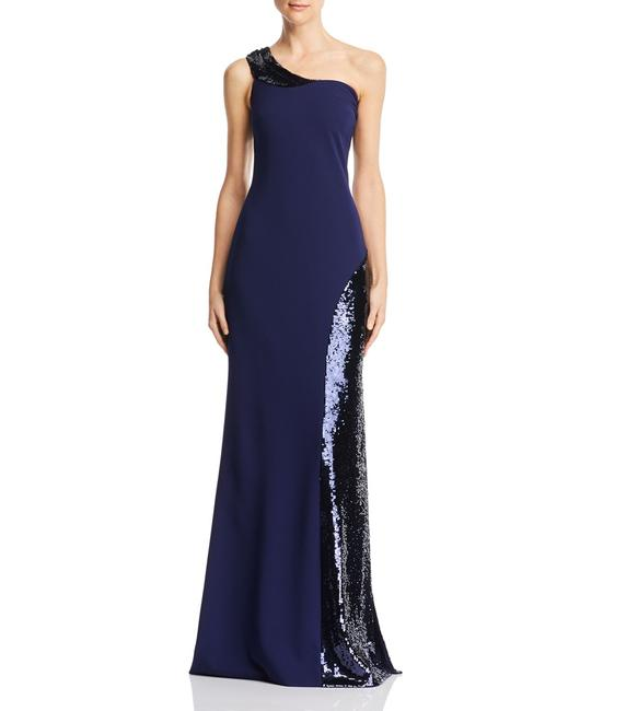 Item - Women's Blue Navy Size 2 Sequin Gown Night Out Dress