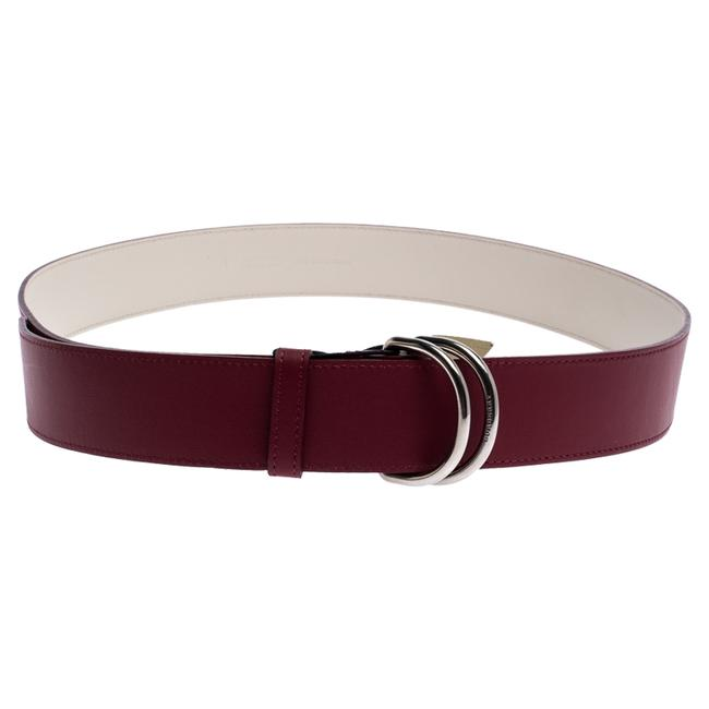 Item - Red Leather Double D-ring 120cm Belt
