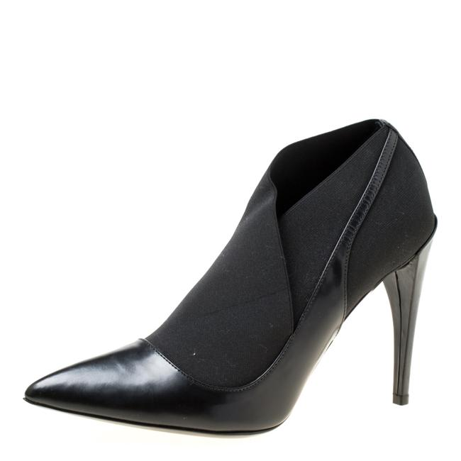 Item - Black Leather Pointed Size 39 Boots/Booties